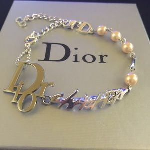 Authentic Dior bracelet with faux pearls